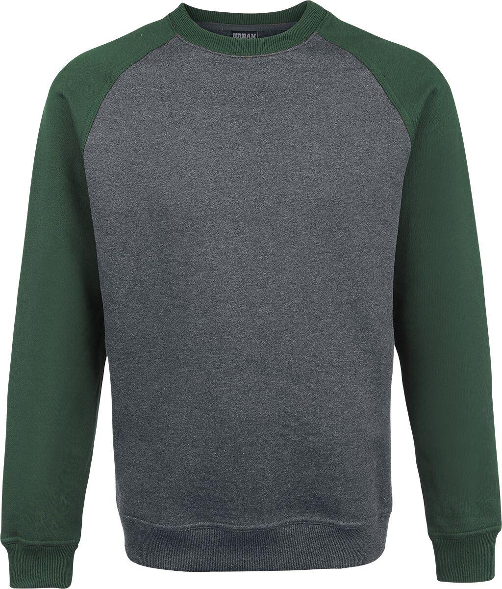 Image of   Urban Classics 2-Tone Raglan Crewneck Sweatshirt koks-grøn