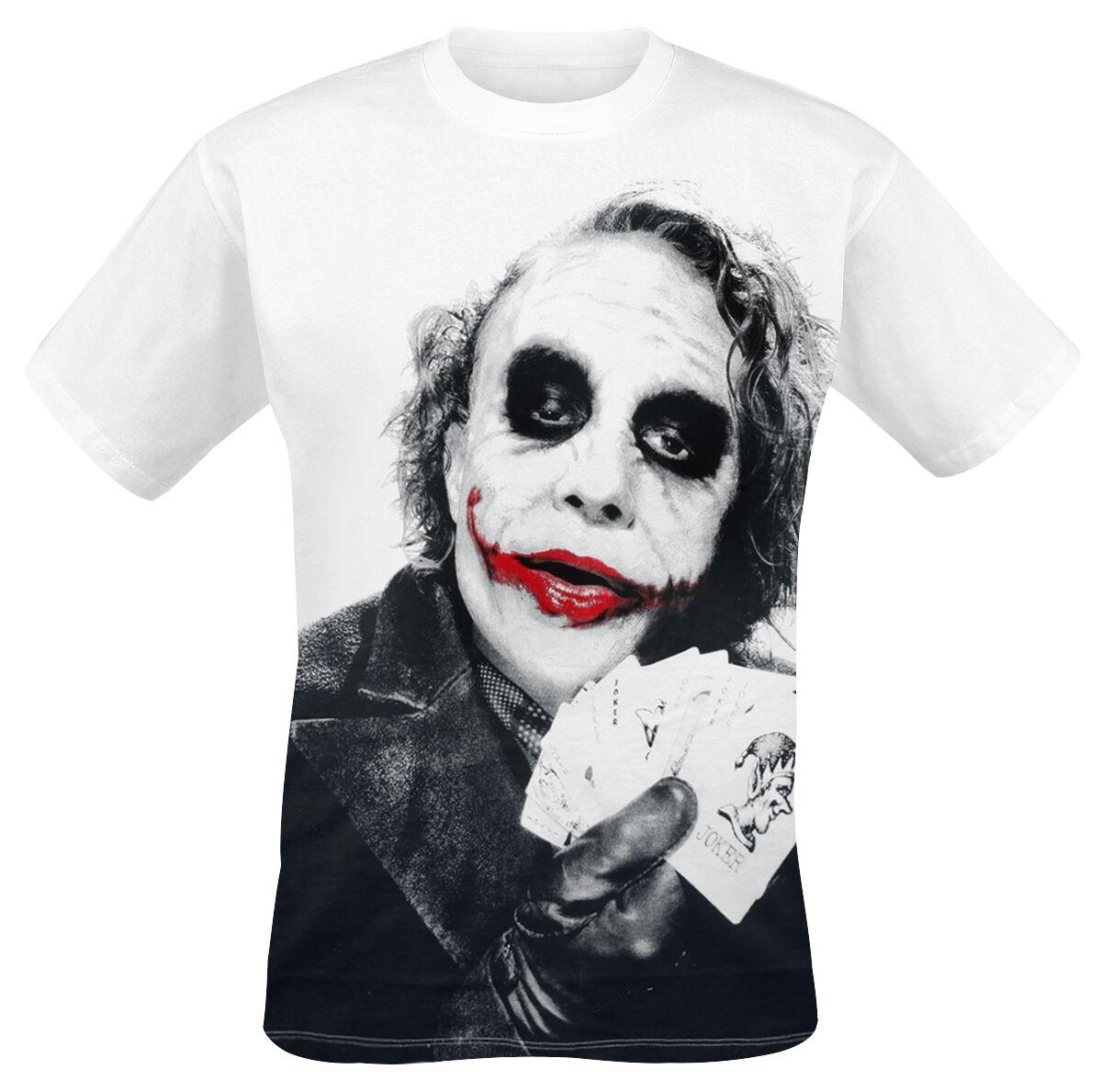 Merch dla Fanów - Koszulki - T-Shirt The Joker Joker Poker T-Shirt biały - 293888