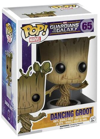 Image of   Guardians Of The Galaxy Dancing Groot Vinyl Bobble-Head 65 Samlefigur Standard