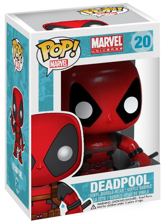 Image of   Deadpool Deadpool Vinyl Bobble-Head 20 Samlefigur Standard