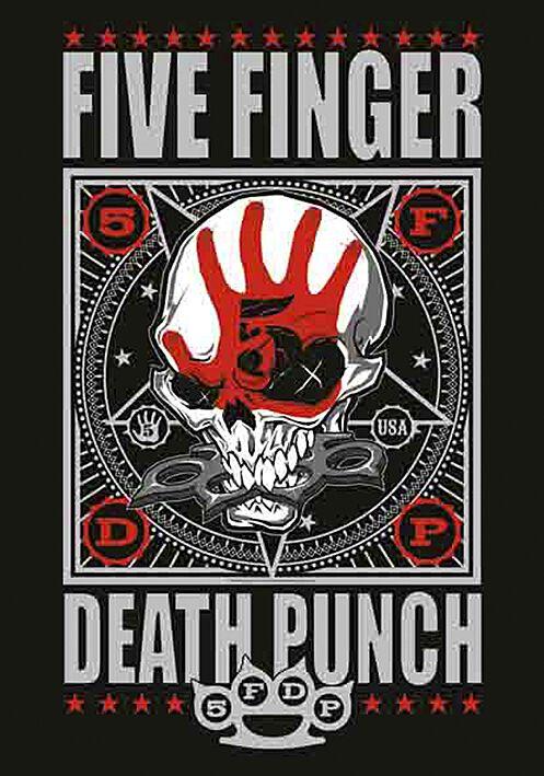 Image of   Five Finger Death Punch Punchagram Flag multifarvet