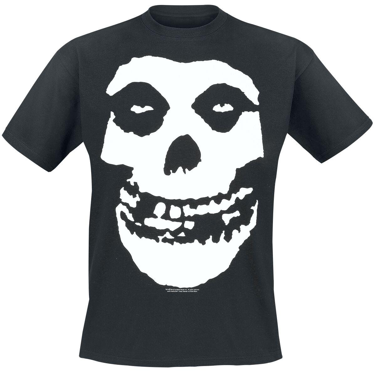 Misfits Skull T-Shirt schwarz