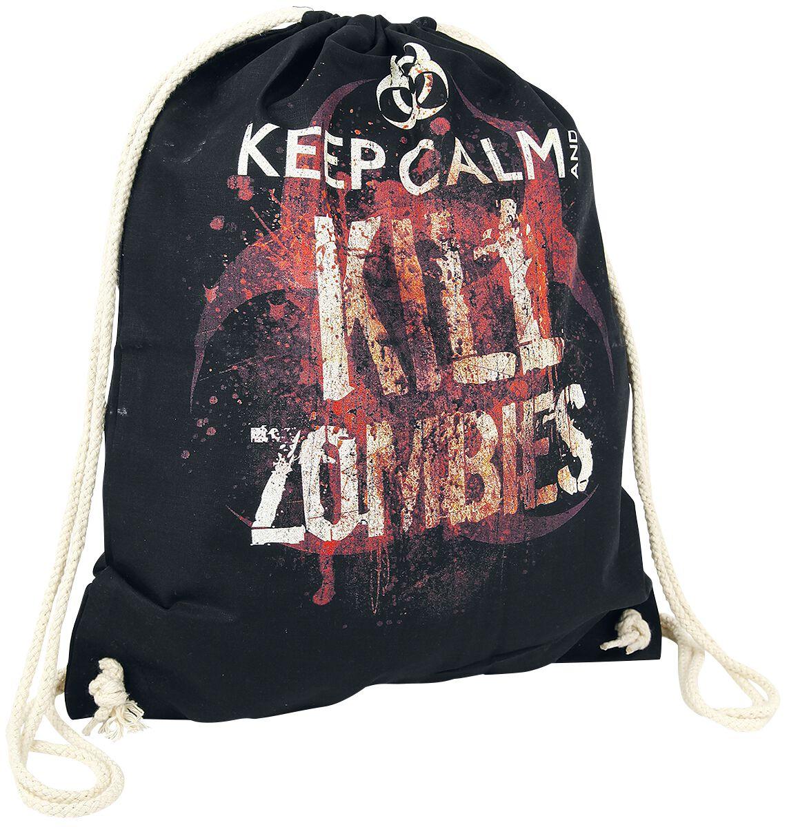 Sporttaschen für Frauen - Keep Calm And Kill Zombies Turnbeutel schwarz  - Onlineshop EMP