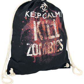 Keep Calm And Kill Zombies Sac de Gym noir