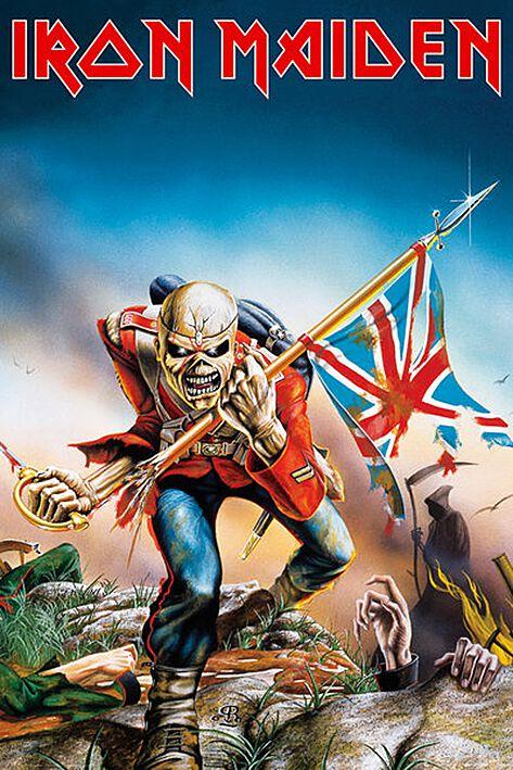 Image of   Iron Maiden Trooper Plakat multifarvet