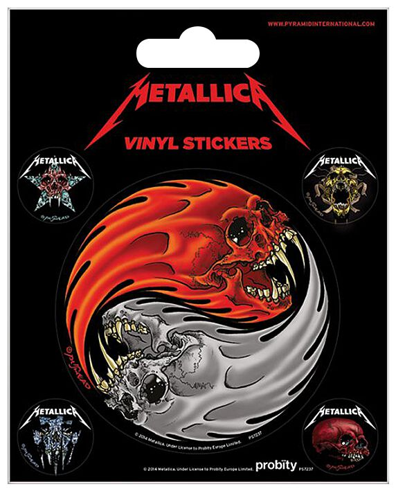 Metallica Yin Yang Skulls Aufkleber-Set Standard