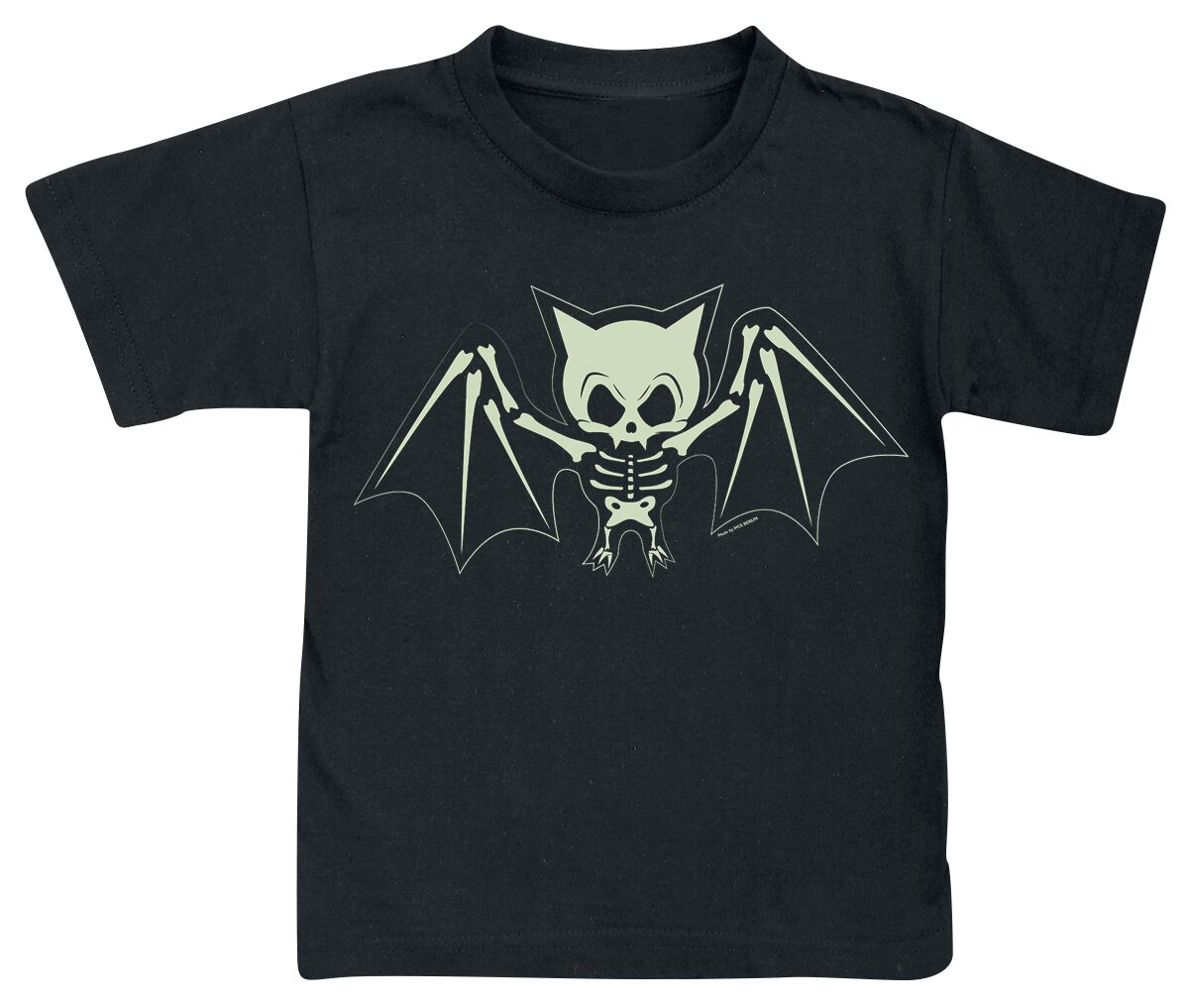 Obraz z Bat Skeleton Koszulka dziecięca czarny