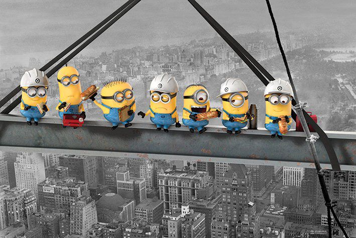 Image of   Minions Minions - Lunch On A Skyscraper Plakat multifarvet
