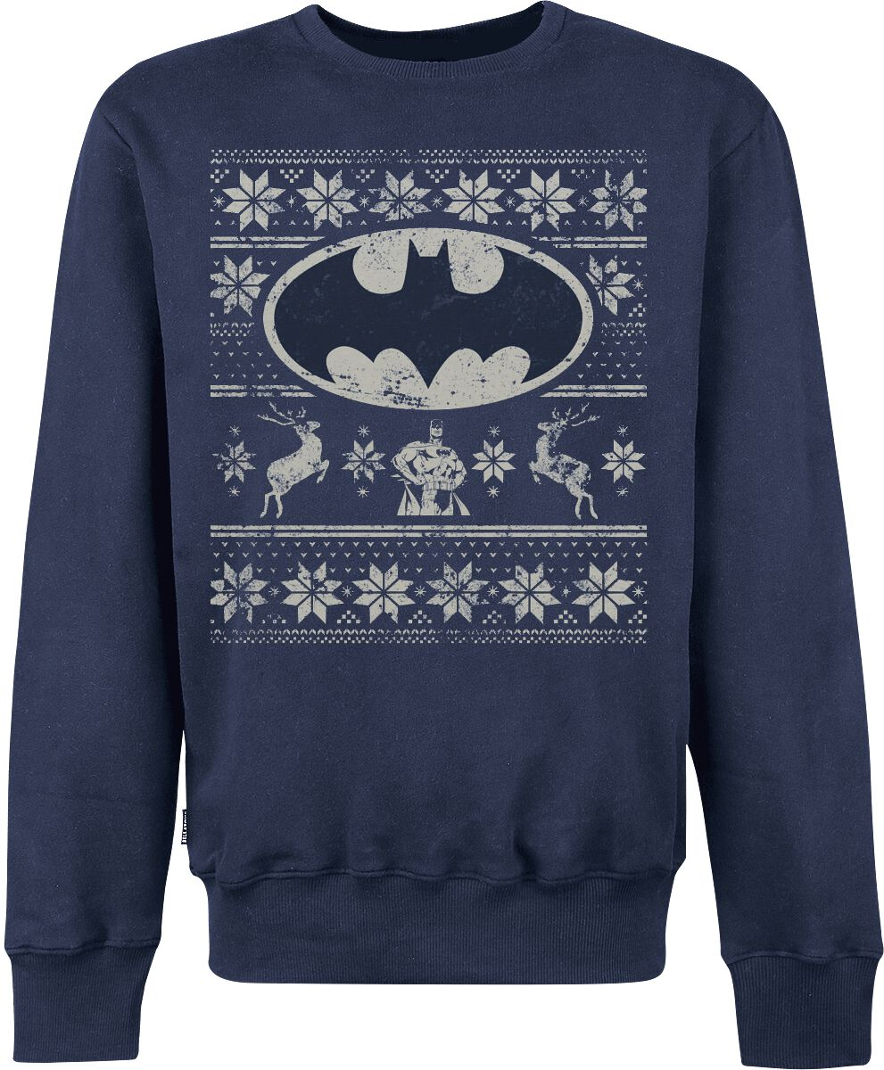 Image of   Batman Fair Isle Sweatshirt blå