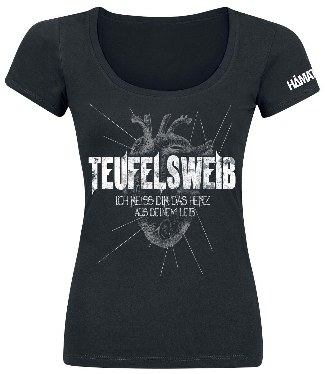 Zespoły - Koszulki - Koszulka damska Hämatom Teufelsweib Koszulka damska czarny - 295873