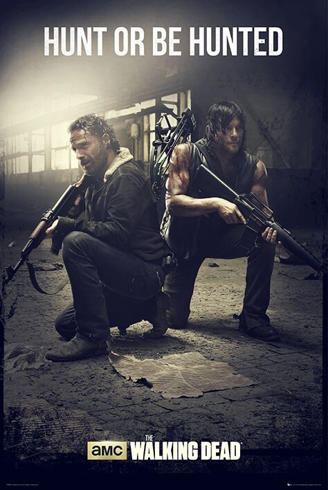 Image of   The Walking Dead Daryl Dixon & Rick Grimes - Hunt Or Be Hunted Plakat Standard