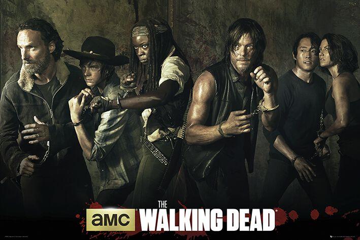 Image of   The Walking Dead Sæson 5 Plakat multifarvet