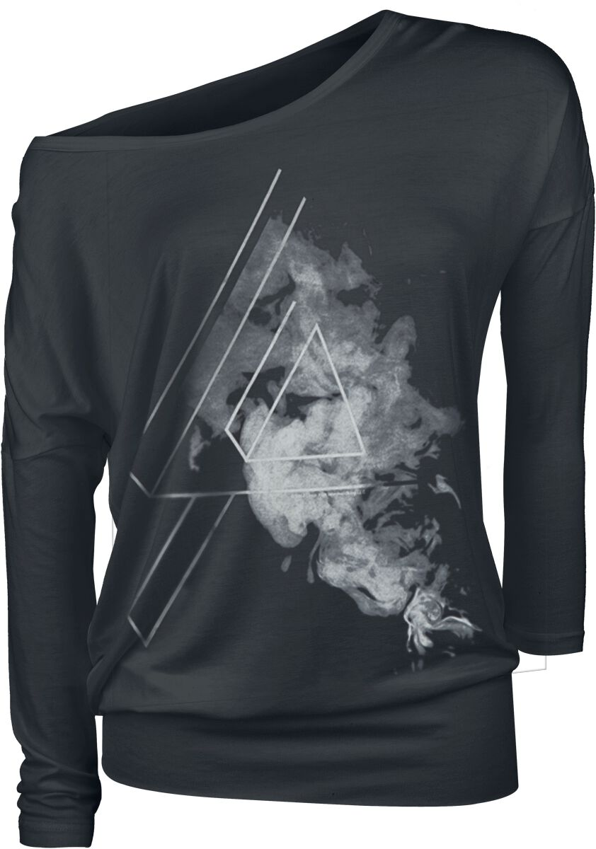 Image of   Linkin Park Smoke Logo Girlie langærmet sort