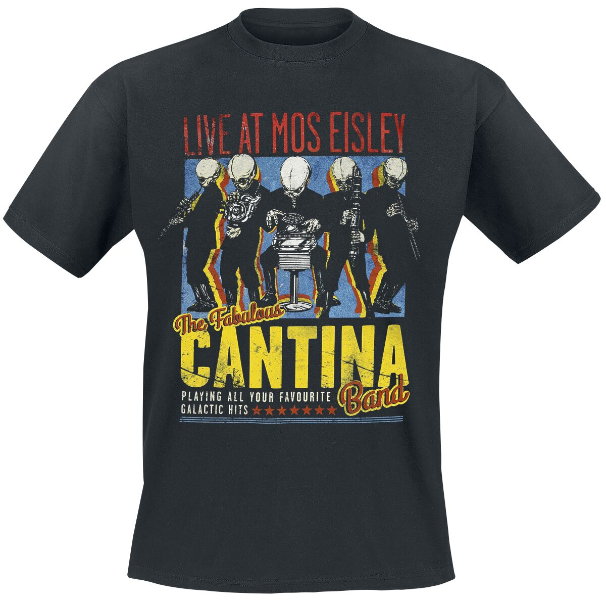 Image of   Star Wars Cantina Band On Tour T-Shirt sort