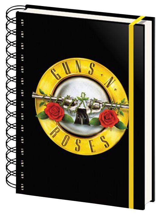 Image of   Guns N' Roses Bullet Logo Notesbog Standard