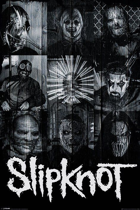 Image of   Slipknot Masks Plakat standard