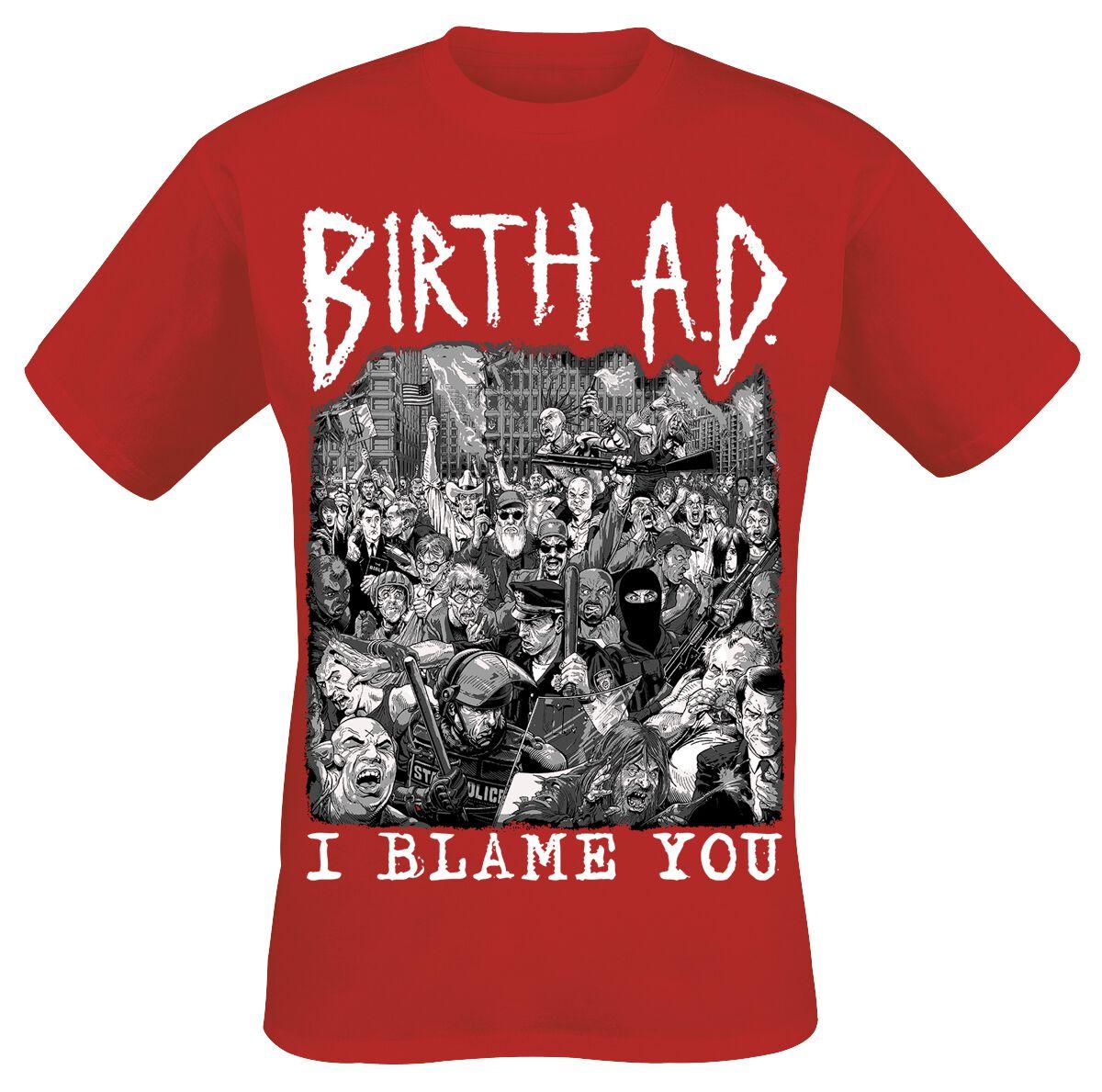 Zespoły - Koszulki - T-Shirt Birth A.D. Red Cover T-Shirt czerwony - 297416