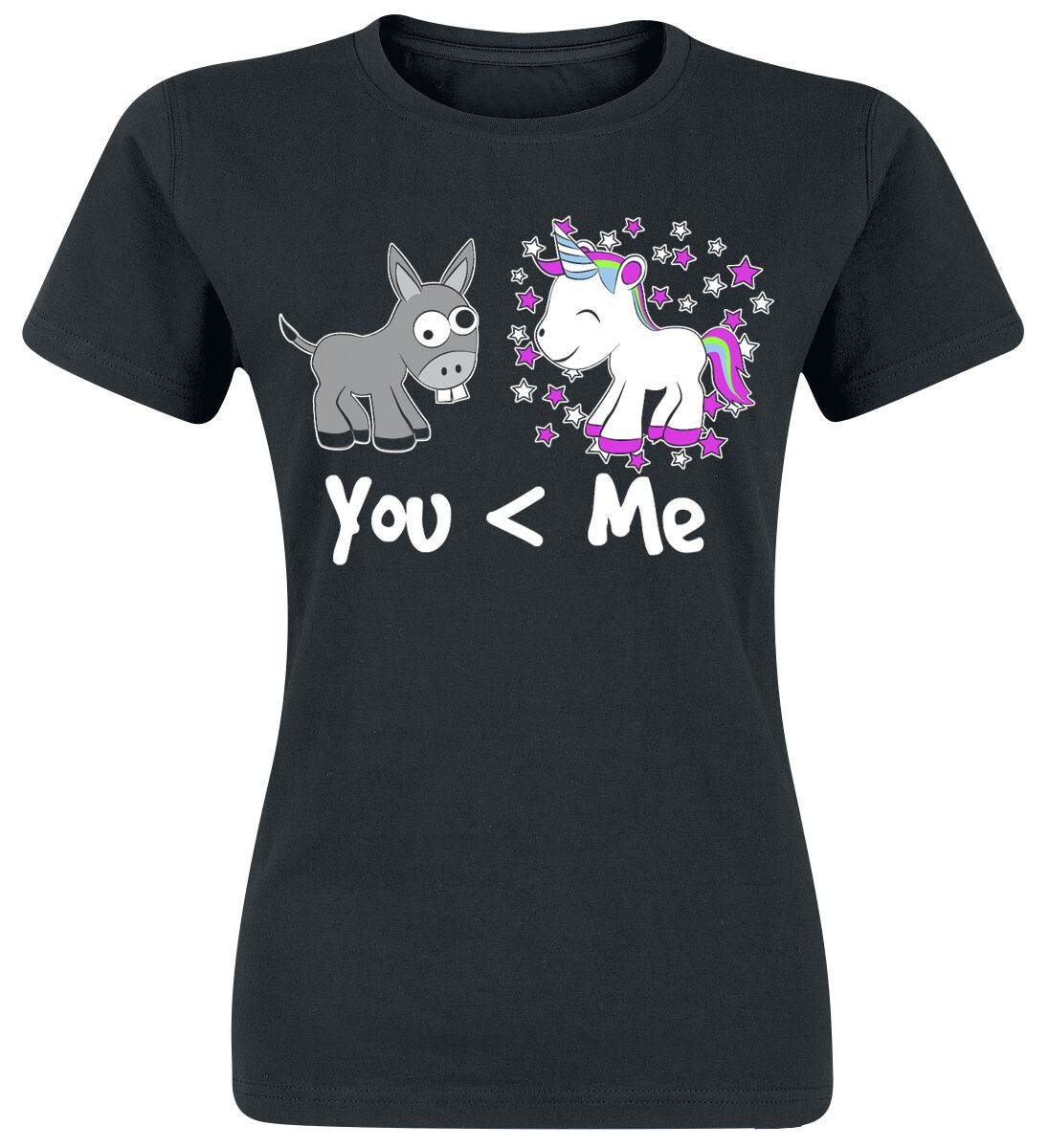 Jednorożec You And Me Koszulka damska czarny