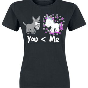 Unicorn You And Me T-shirt Femme noir