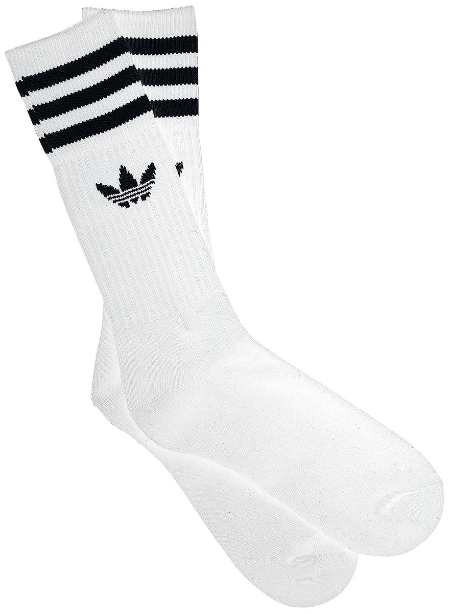 Adidas Solid Crew Sock 3 Pack Sokker hvid-sort