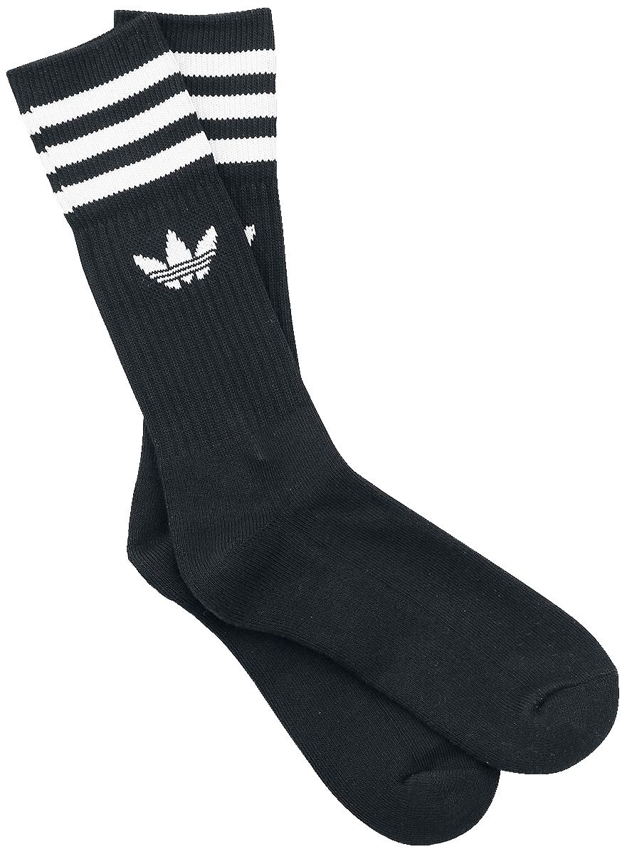 Adidas Solid Crew Sock 3 Pack Sokker sort-hvid
