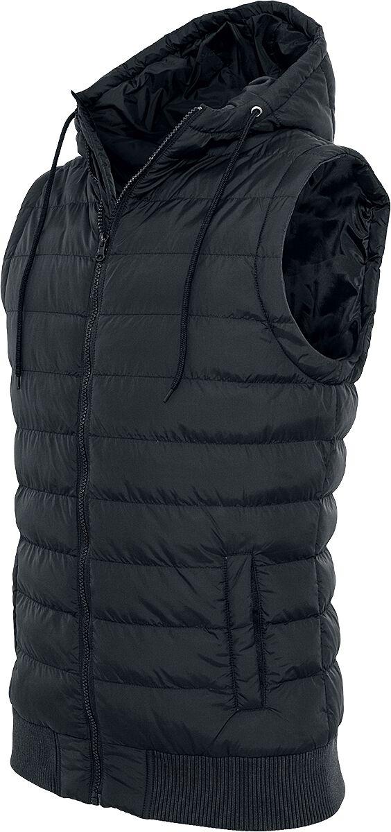 Image of   Urban Classics Small Bubble Hooded Vest Vest sort