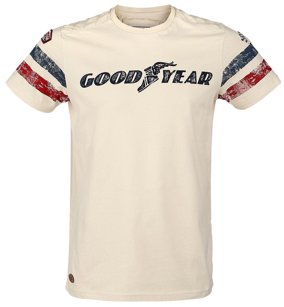 Marki - Koszulki - T-Shirt GoodYear Grand Bend T-Shirt beżowy - 298224