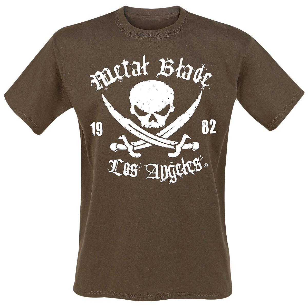 Merch dla Fanów - Koszulki - T-Shirt Metal Blade Pirate Logo T-Shirt brązowy - 298364