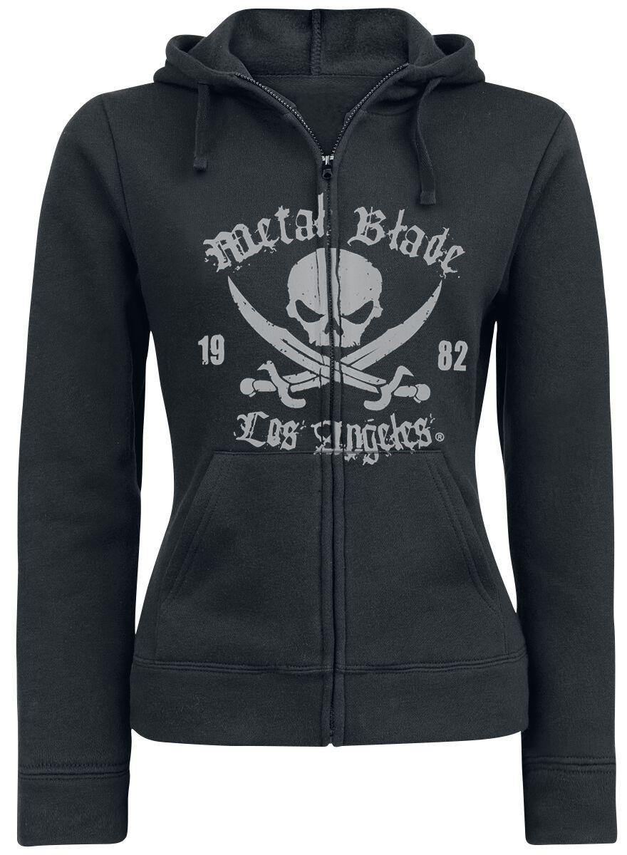 Merch dla Fanów - Bluzy z kapturem - Bluza z kapturem rozpinana damska Metal Blade Pirate Logo Bluza z kapturem rozpinana damska czarny - 298373