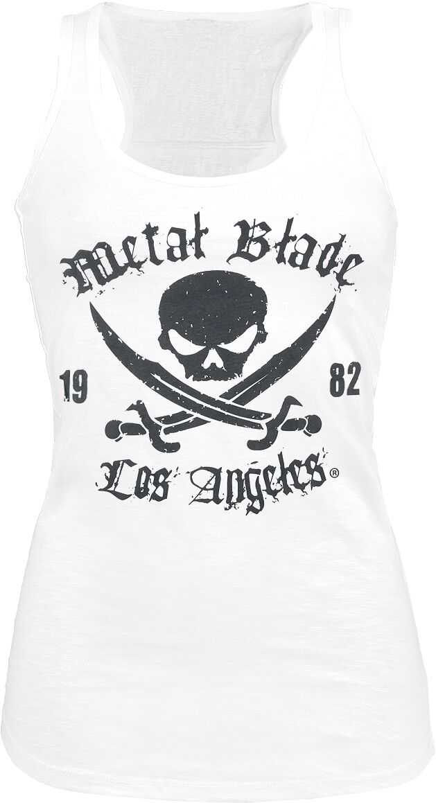 Merch dla Fanów - Topy - Top damski Metal Blade Pirate Logo Top damski biały - 298377