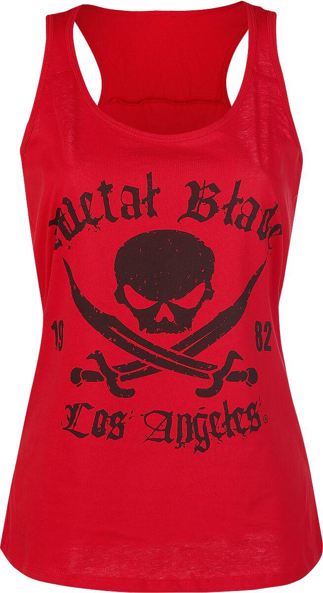 Merch dla Fanów - Topy - Top damski Metal Blade Pirate Logo Top damski czerwony - 298378