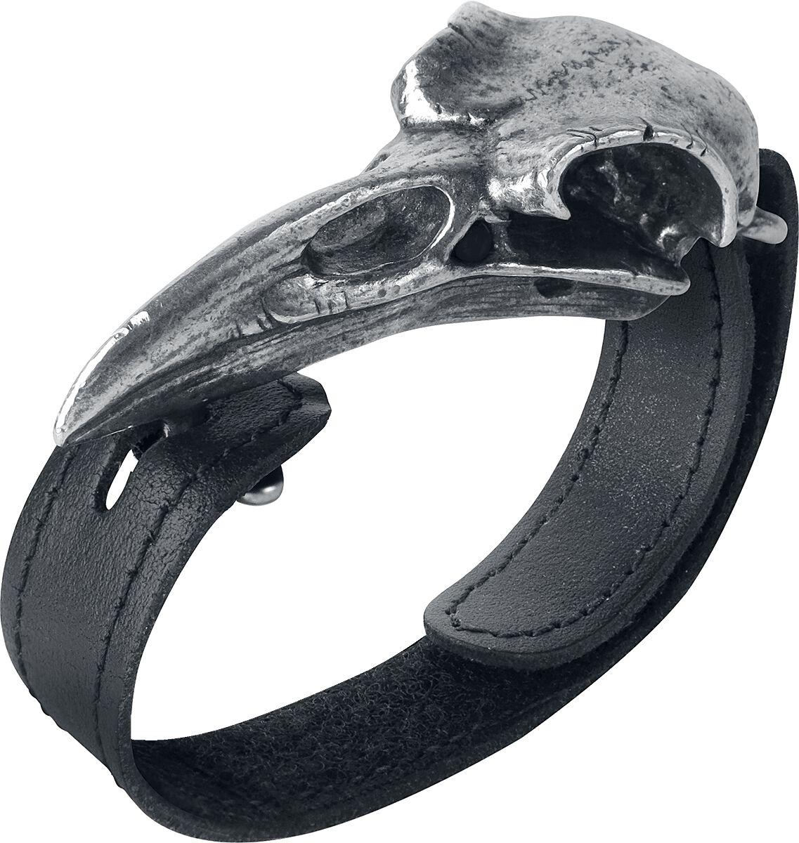 Image of   Alchemy Gothic Raven Skull Armbånd Standard