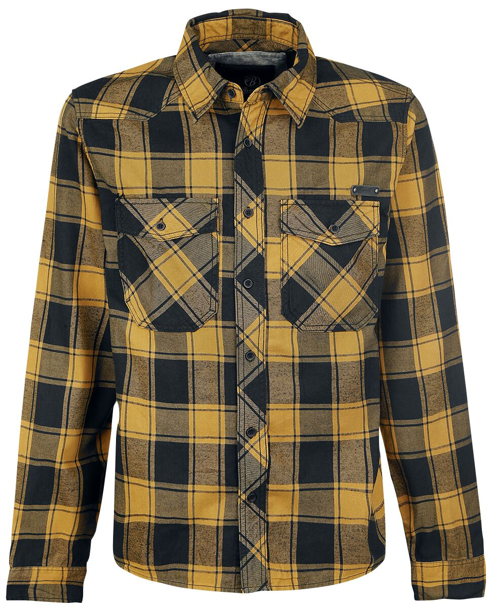 Image of   Brandit Checkshirt Skjorte sort-gul
