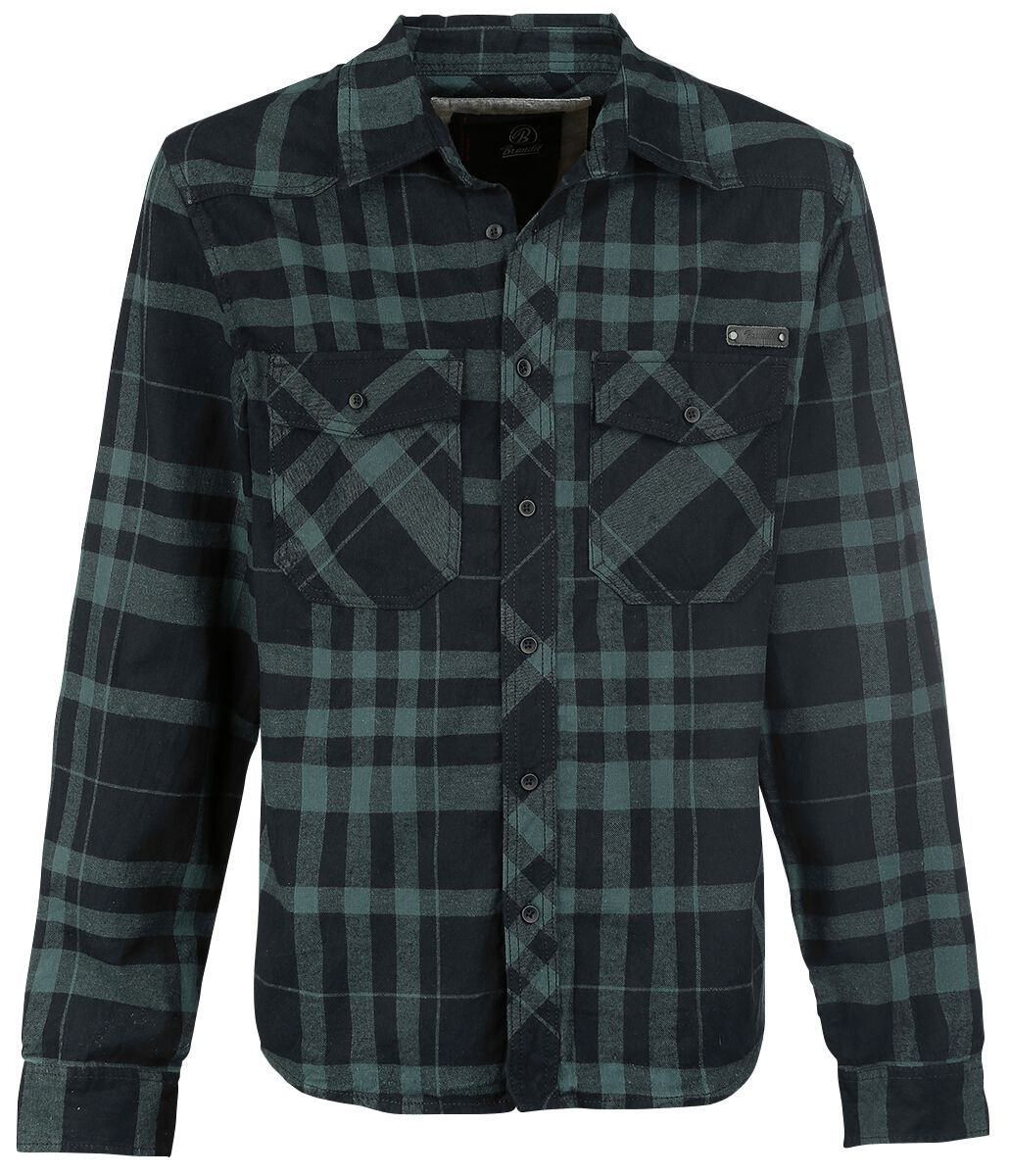 Image of   Brandit Checkshirt Skjorte sort-grøn