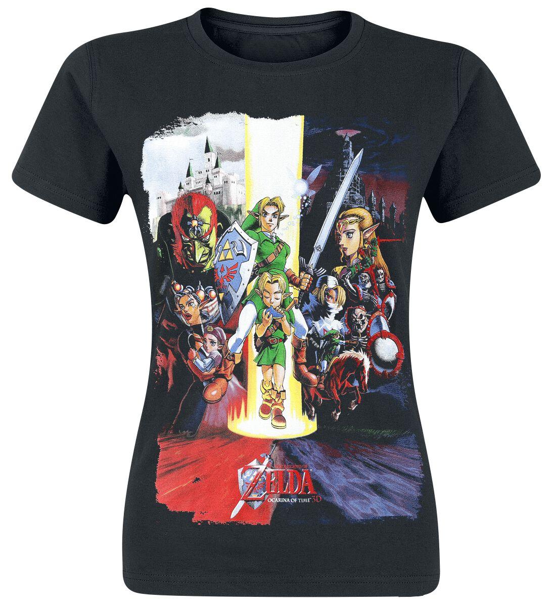 Image of   The Legend Of Zelda All Together Girlie trøje sort