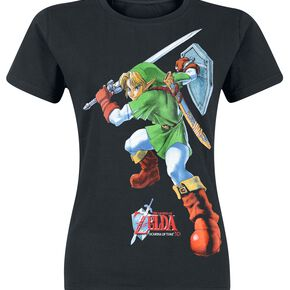 The Legend Of Zelda Fight T-shirt Femme noir