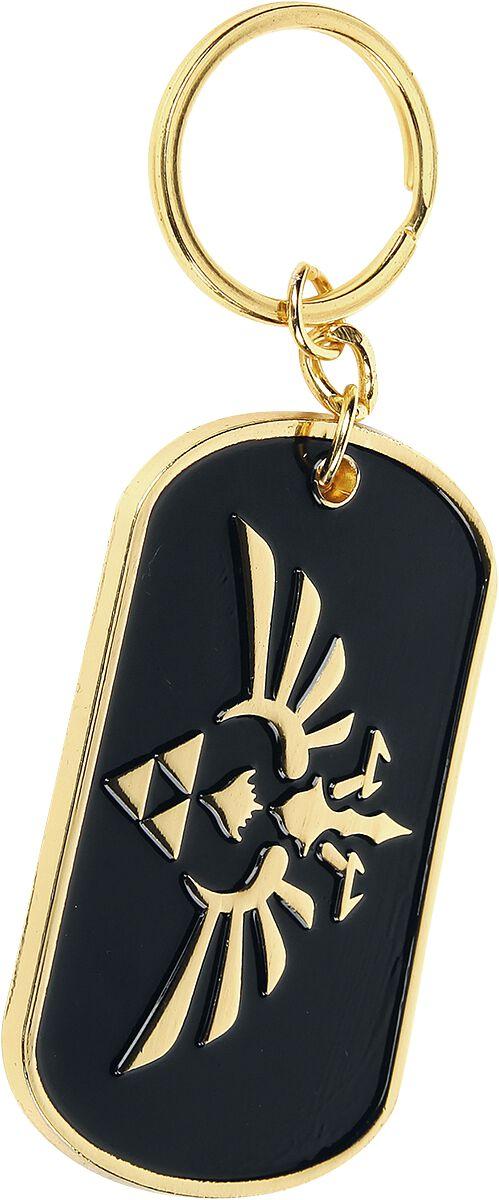 Image of   The Legend Of Zelda Skyward Sword Nøglering sort-guld