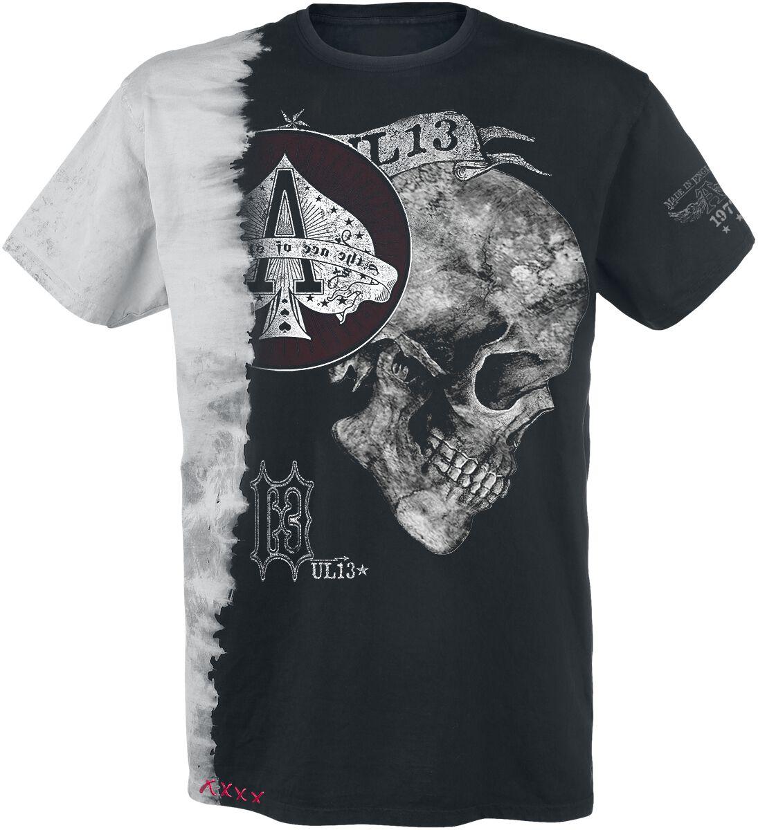 Image of   Alchemy England Ace of Skulls T-Shirt sort-hvid