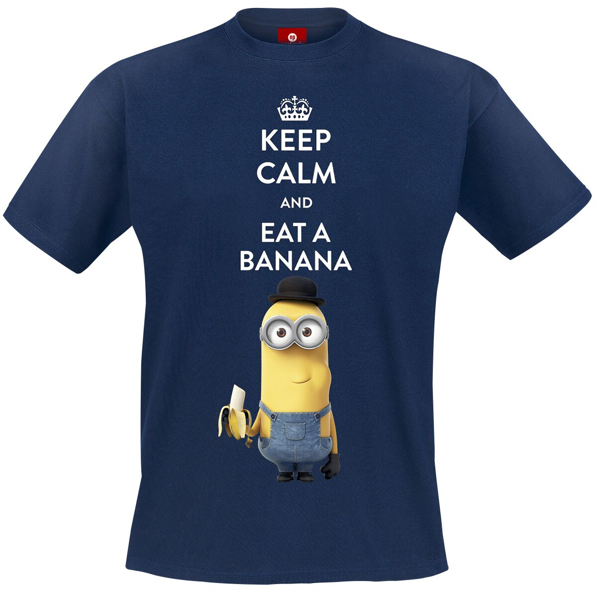 Image of   Minions Keep Calm And Eat A Banana T-Shirt navy