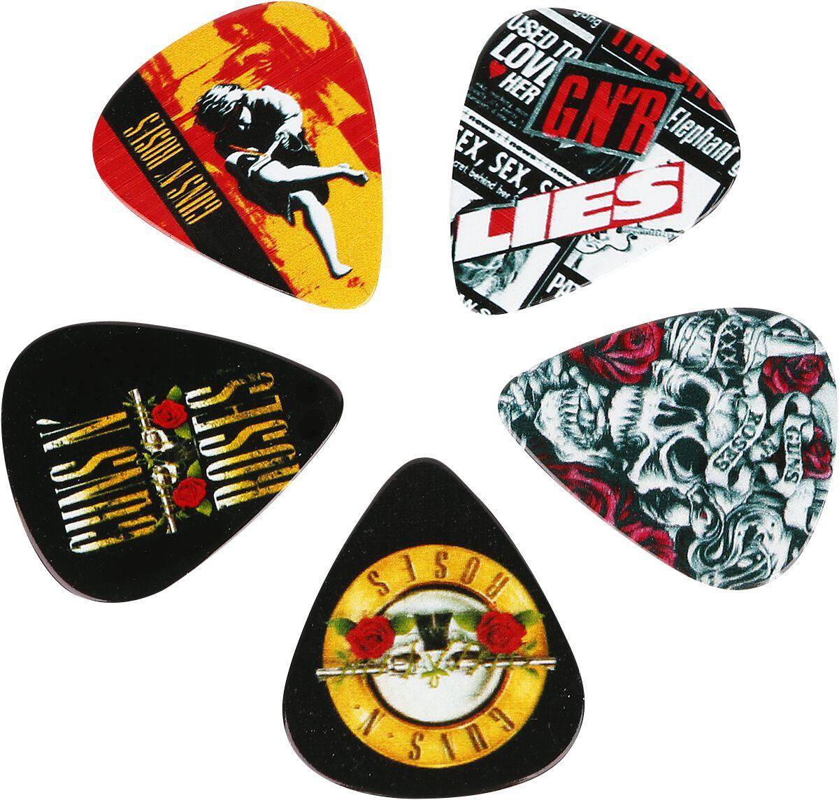 Image of   Guns N' Roses 12 Pick Pack Plekter multifarvet