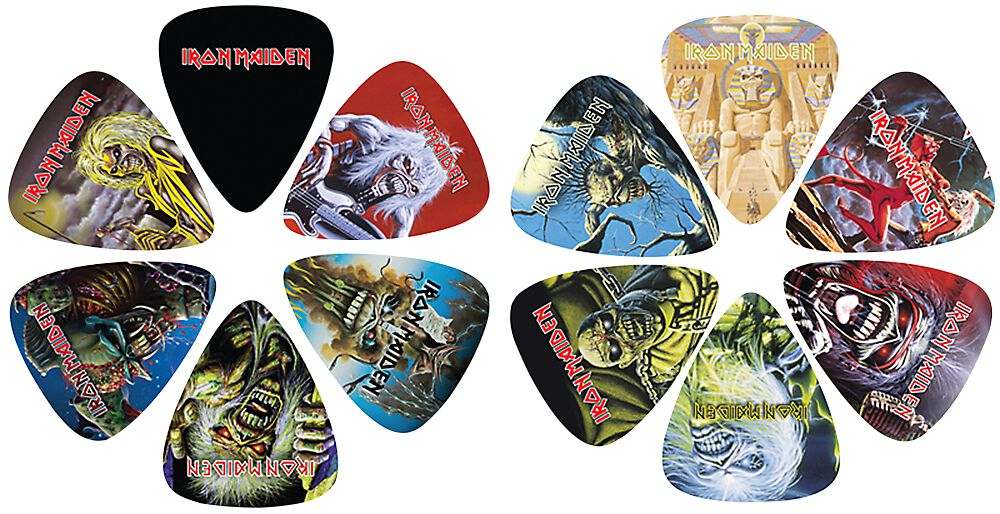 Image of   Iron Maiden 12 Pick Pack Plekter multifarvet