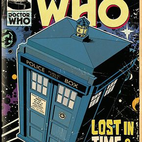 Doctor Who Comic Tardis Poster multicolore