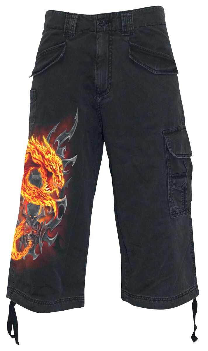 Image of   Spiral Fire Dragon Vintage shorts sort