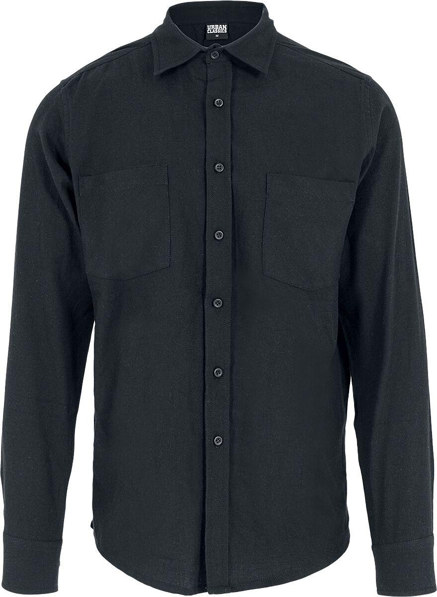 Image of   Urban Classics Checked Flannel Shirt Skjorte sort