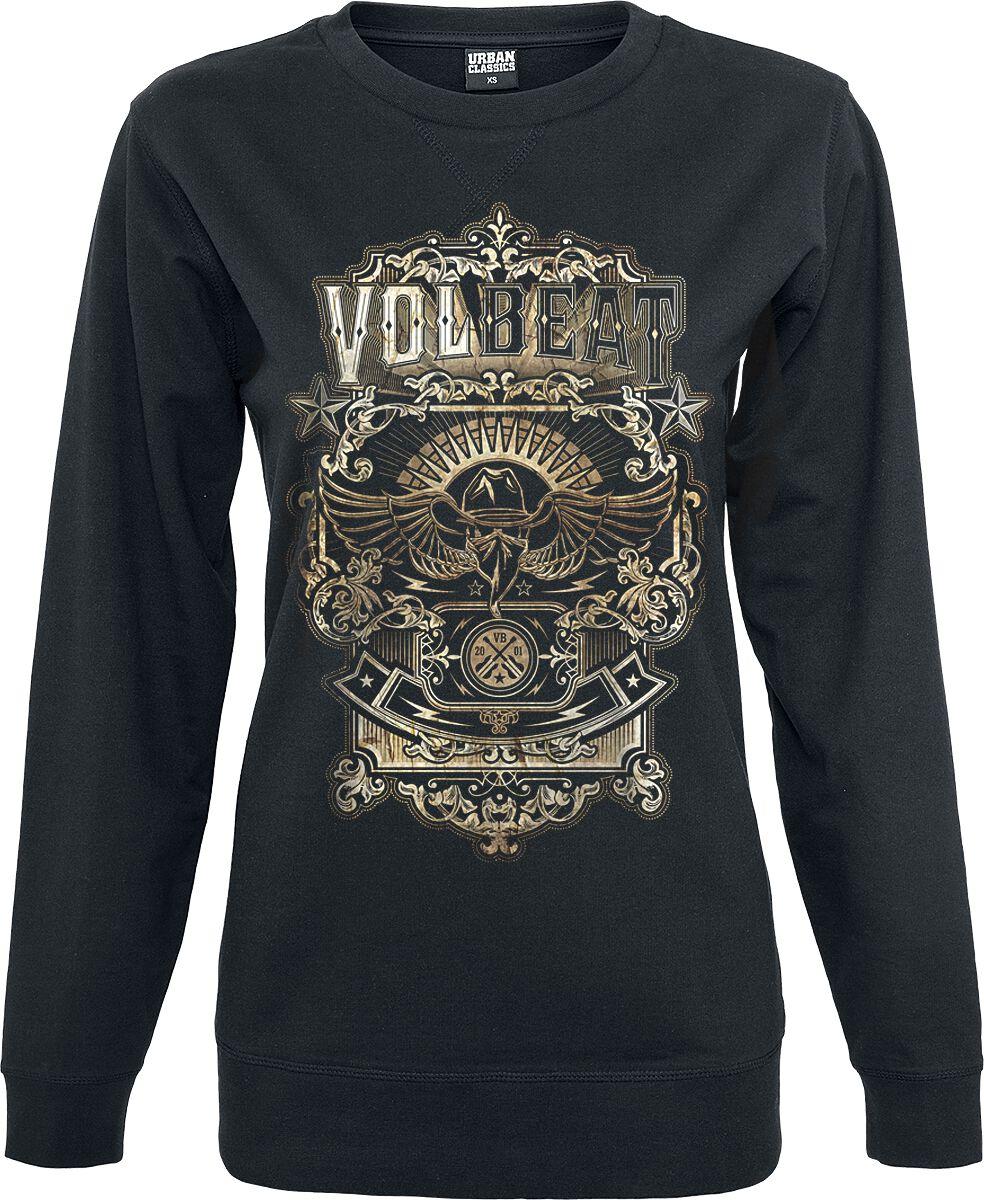 Image of   Volbeat Old Letters Girlie sweatshirt sort