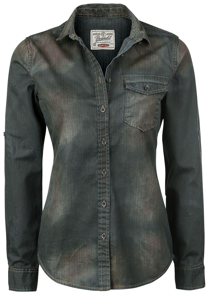 Image of   Brandit Denimshirt Girlie Skjorte blå-sort