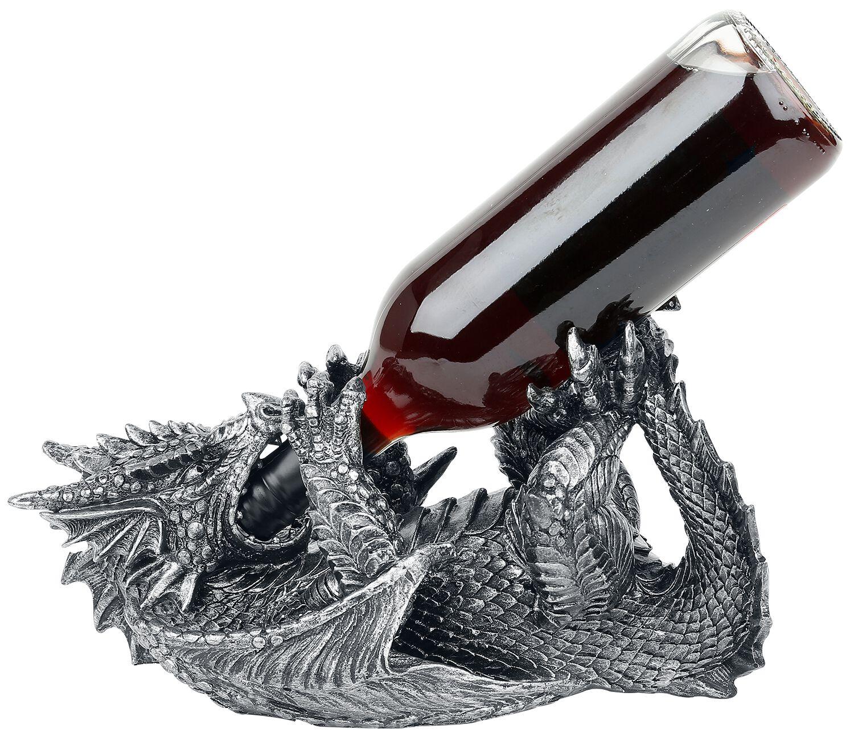 Image of   Nemesis Now Guzzlers Dragon Dekorationsartikel sort-sølv