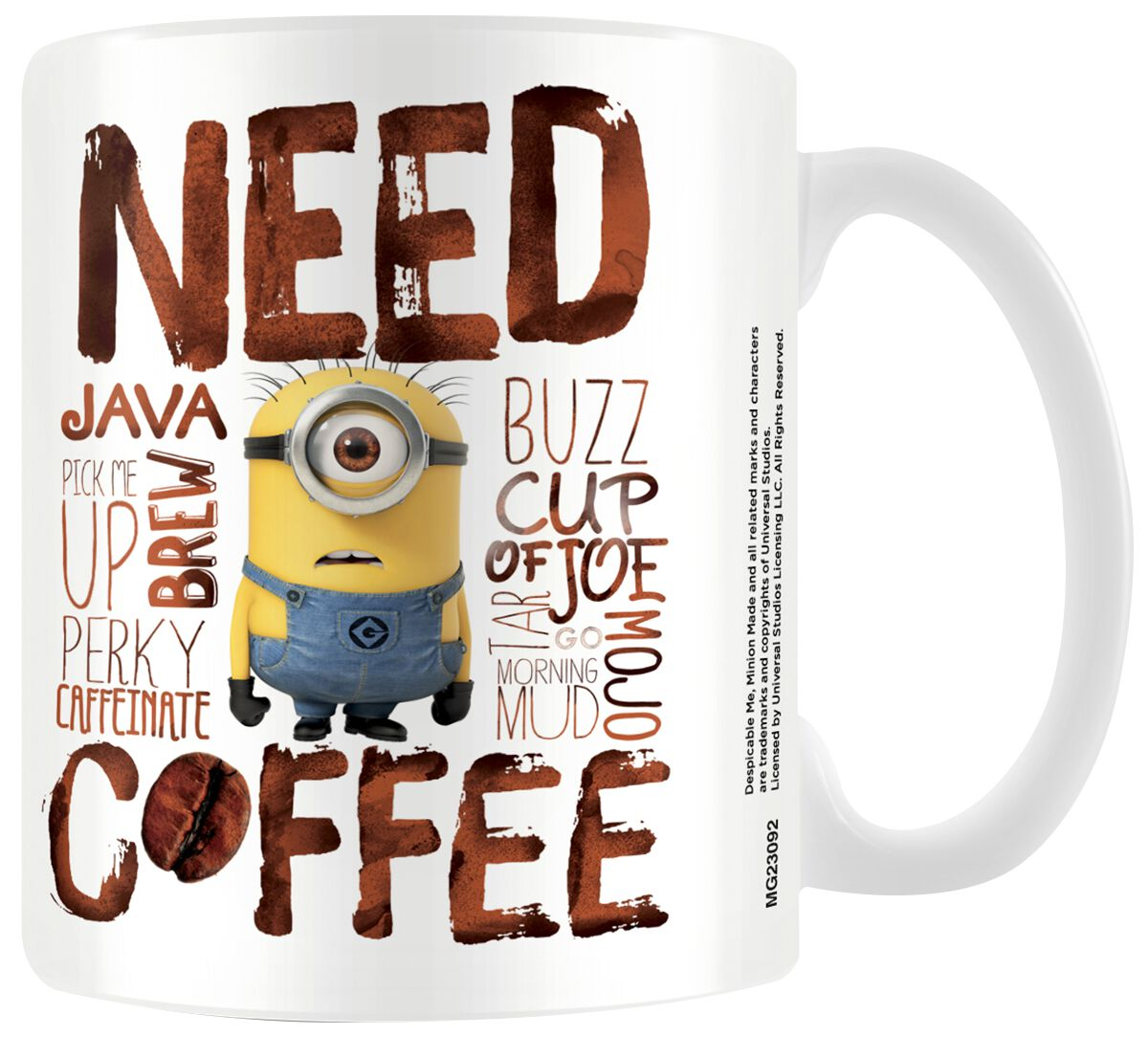 Image of   Minions Minions - Need Coffee Krus hvid