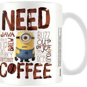 Les Minions Les Minions - Need Coffee Mug blanc