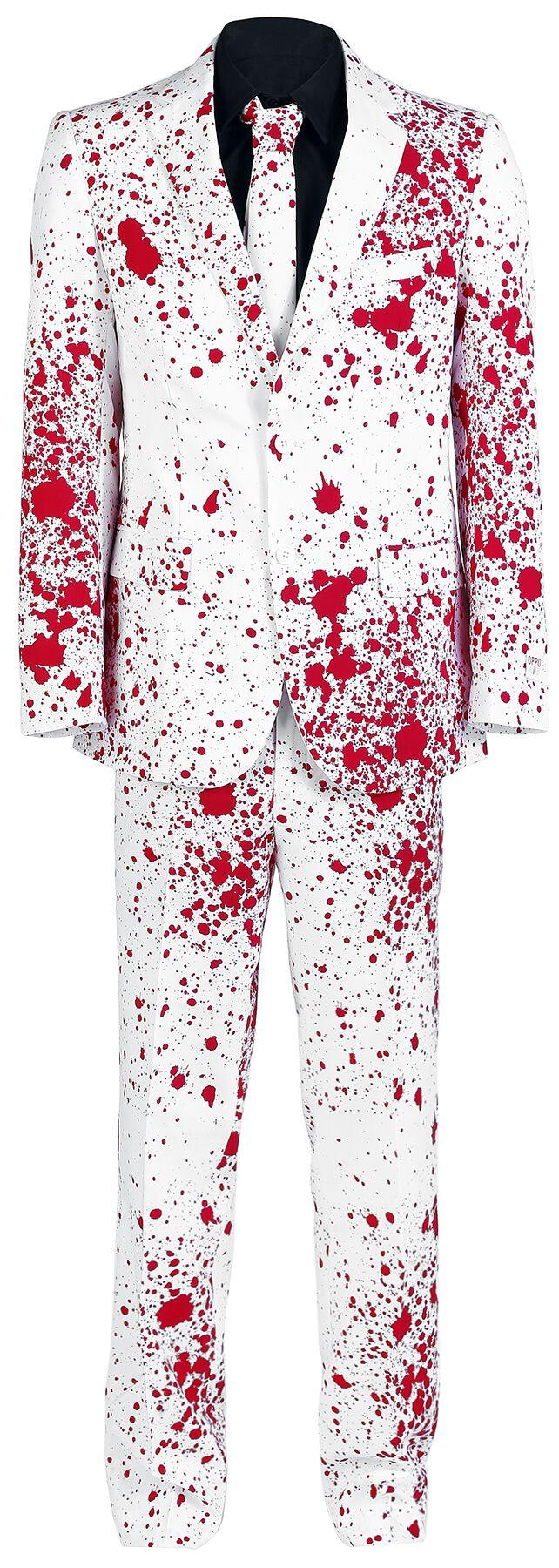 Fun Shirts - Maski i Kostiumy - Kostium OppoSuits Bloody Harry Kostium biały/czerwony - 314224